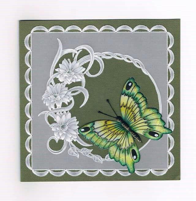 T T butterfly green