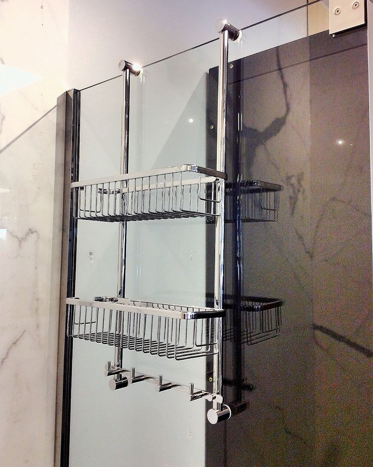 Get additional #storage instantly with this #bathroom caddy. Easy and adjustable installation lets you hang it over any #shower glass panel. . . . . . #bath #home #renovation #plumbing #accessories #designer #design #interior #calgary #yyc #theme #style #yycdesign #yycdesigner #contractor #builder #luxuryhomes
