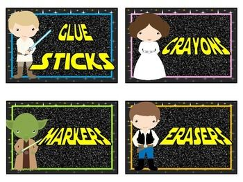 Organize your classroom with these Star Wars themed classroom labels. Includes 8 labels. Please let me know if you would like them personalized or if you would like a different theme, color, or character!