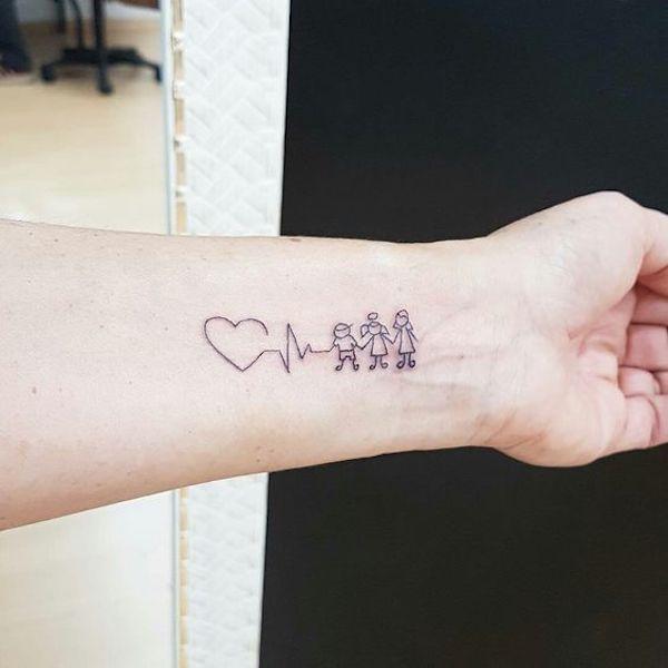 21 Ideias de tatuagens para homenagear os filhos - 123 Tatuagens | Tatuagem, Minitatuagens, Tatuagem pequena