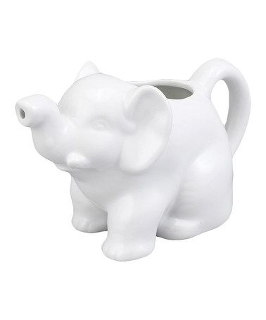 Take a look at this White Elephant Cream Server by Harold Import Co. on #zulily today!