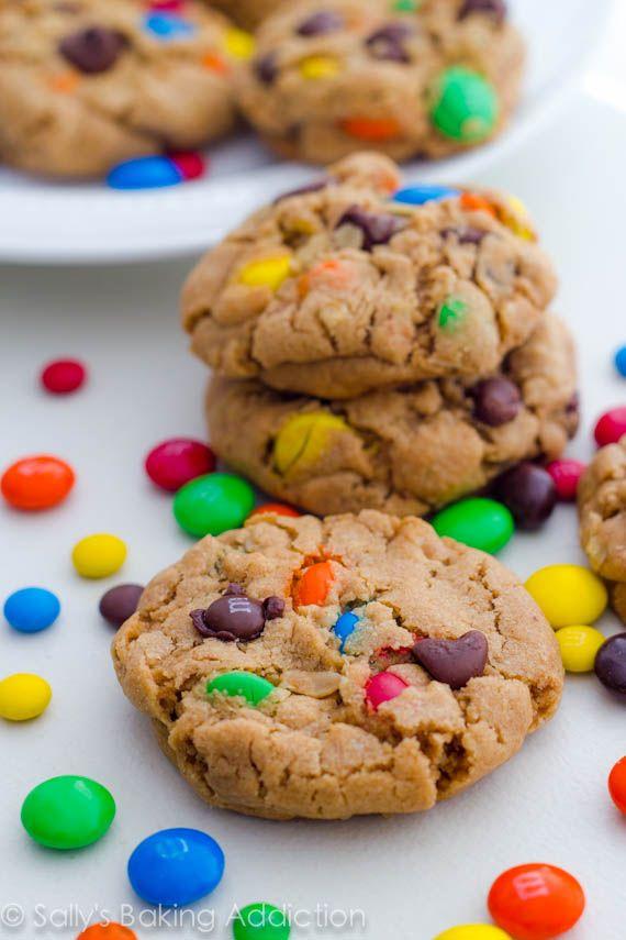 Soft-Baked Peanut Butter Monster Cookies