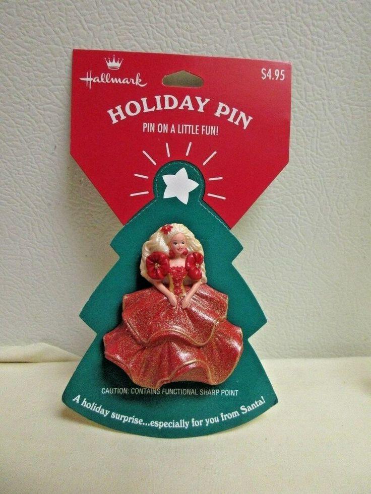 Hallmark Holiday Barbie Collectible Pin in 2020 Hallmark