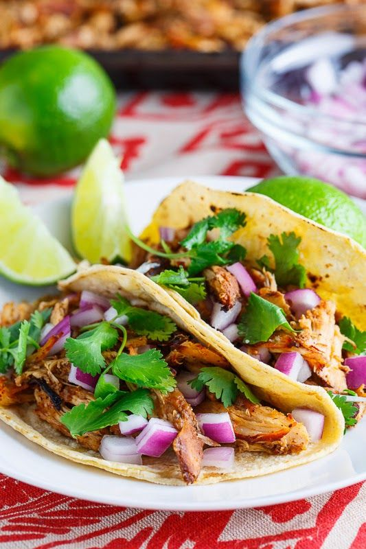 Slow Cooker Chicken Carnitas Tacos | Closet Cooking