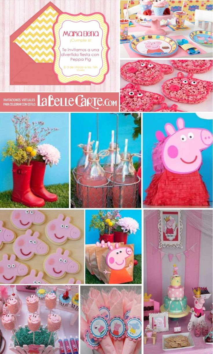 Pe peppa pig online coloring pages - Invitaciones Infantiles Invitaciones Para Fiestas Infantiles Cumpleanos Peppa Invitations Onlinepig Birthdaypig Partykids