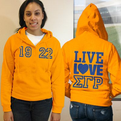 Sigma Gamma Rho Sorority Fashion Hoody