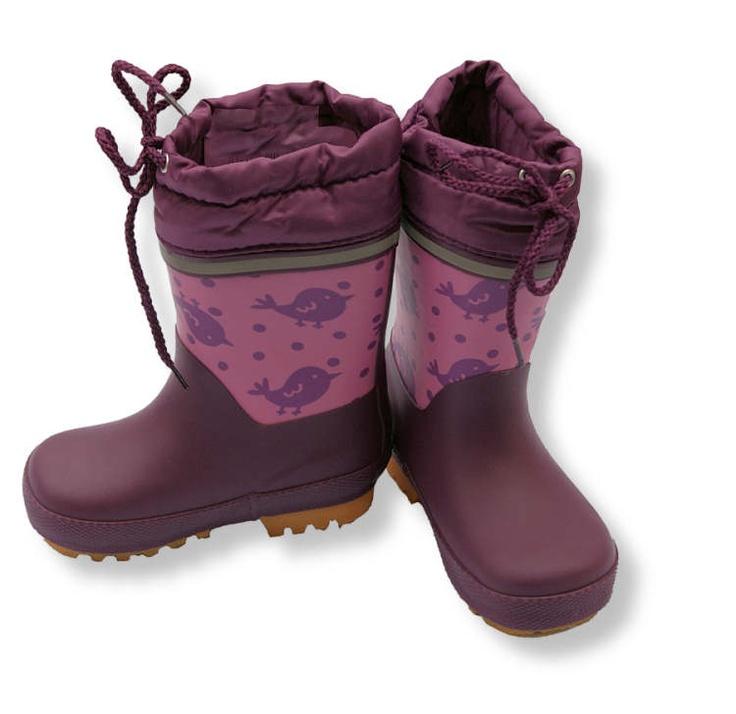 CeLaVi Thermo Winter Gummistiefel aus Kautschuk gefüttert Modell Spatz violett