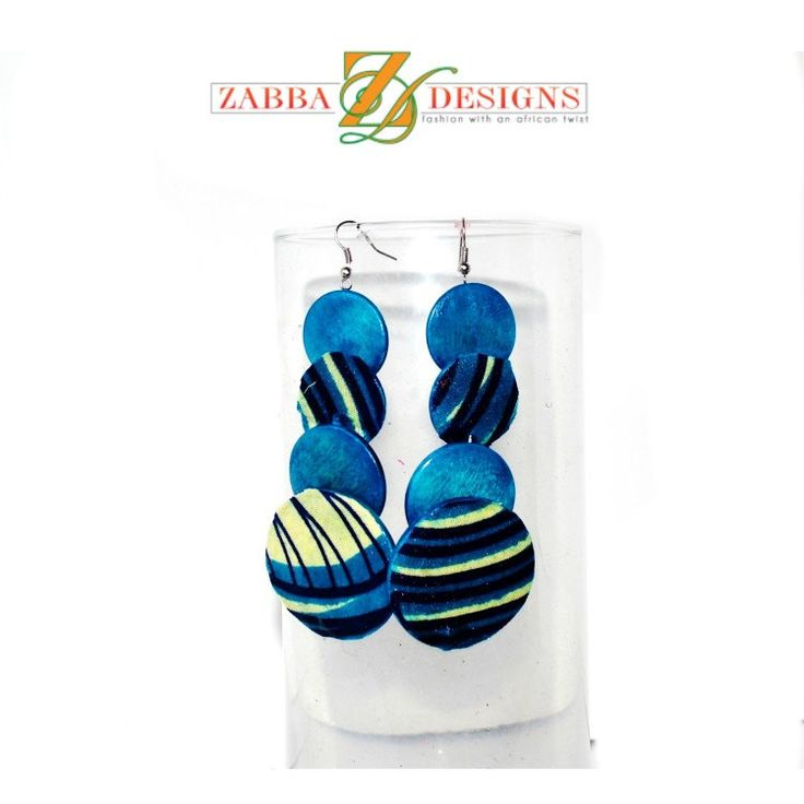 African Ankara print Stunning, bold earrings! made with a beautiful African Ankara print fabric.from Zabba Designs. Lightweight and can easily spice up your favorite outfit. Vibrant hand wrapped Ankar