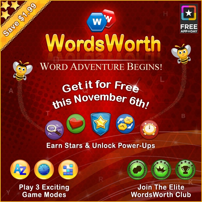 Just one more day for WordsWorth to be made available for FREE via @appoday :)