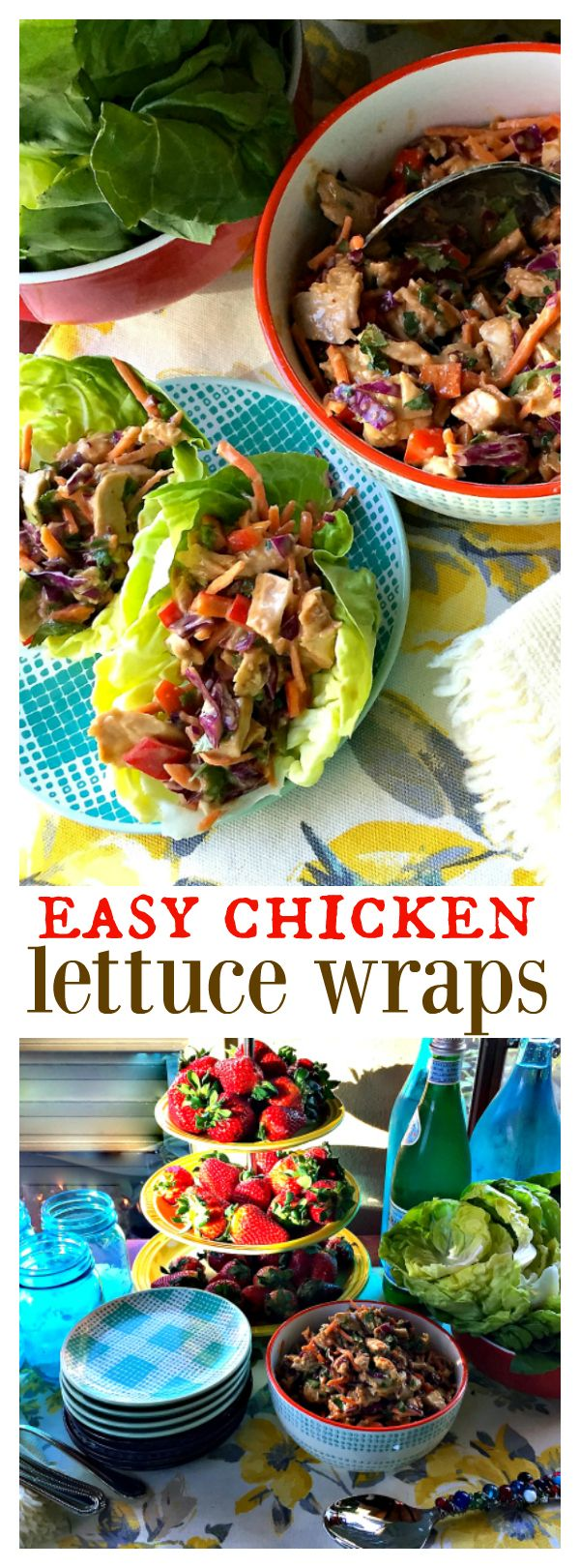 Easy Chicken Lettuce Wraps at ReluctantEntertainer.com