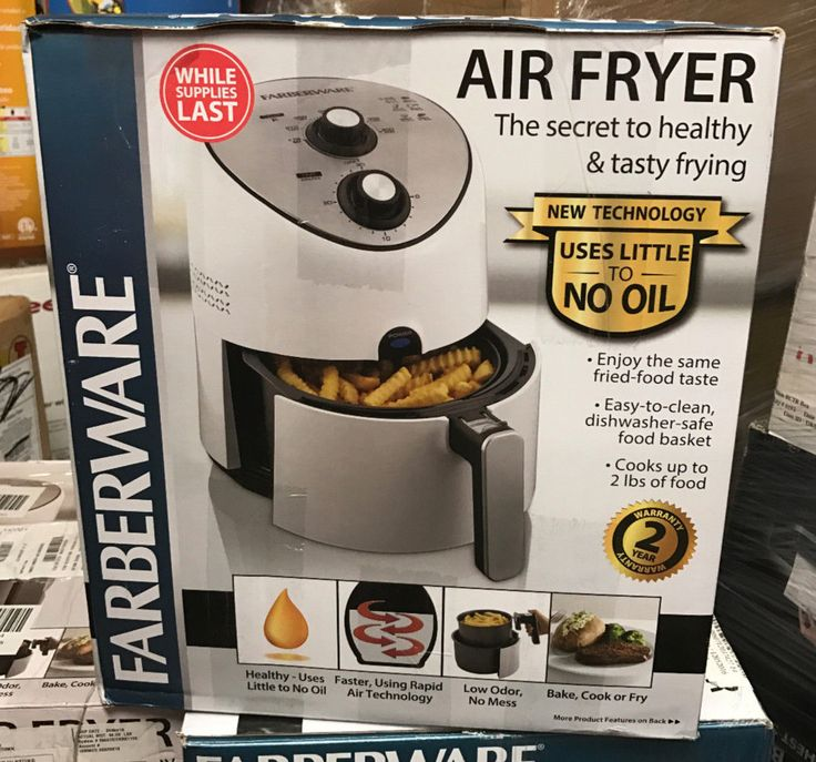 Deep Fryers 20674: Farberware Air Fryer - White. Hot Air Frying With No Oil Or Messy Clean-Up! -> BUY IT NOW ONLY: $64.99 on eBay!
