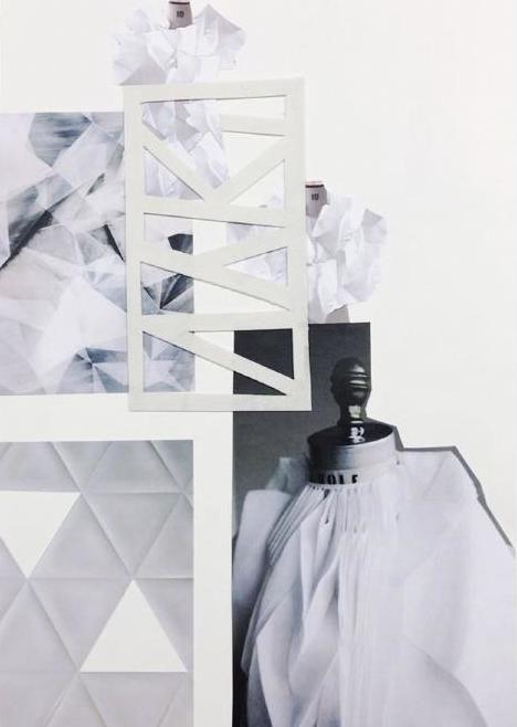 Fashion Sketchbook - fabric manipulation research, fashion design development // Marie Ly