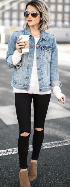 Winter Outfit Ideas 2018 To Try #Jeans Now #winteroutfits #dressescasualspring