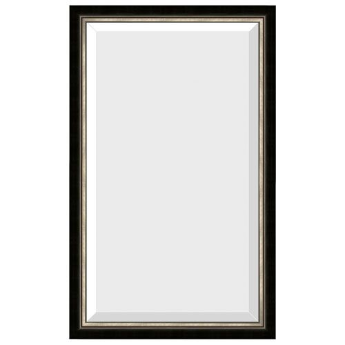 """$136, 19"""" w Diploma Black 31 Inch Brushed Nickel Mirror Rectangle Mirrors Home Decor"""