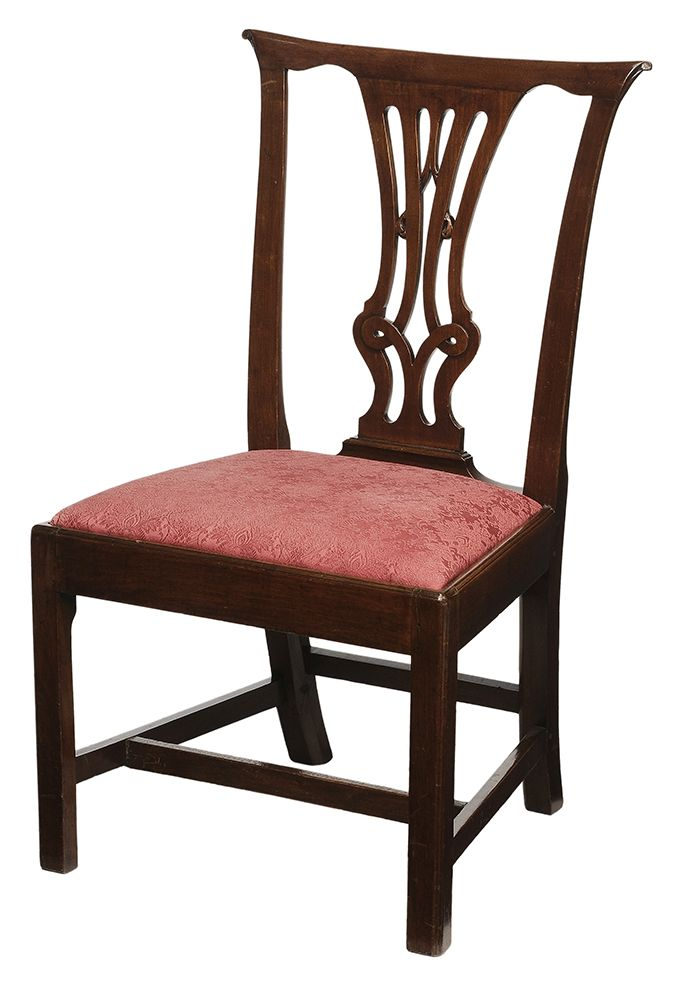 Virginia Chippendale Walnut Side Chair the flat crest rail with scrolled  ends over pierced and carved - 267 Best Antiques...please, Mostly American Images On Pinterest