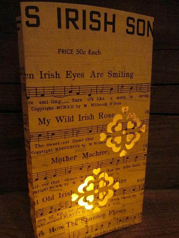 Irish Lantern Famous Irish Songs When Irish Eyes by Oldendesigns, $12.00