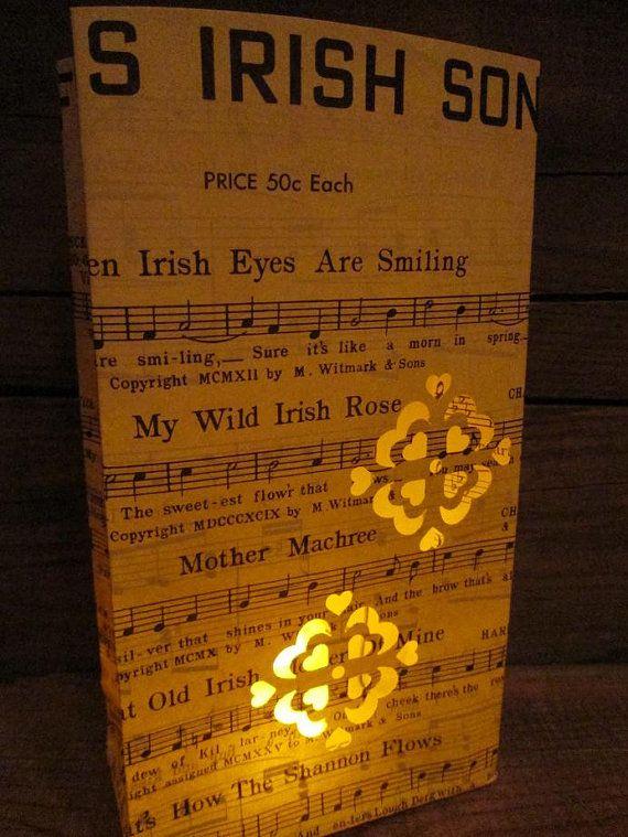 Irish Lantern Famous Irish Songs When Irish Eyes by Oldendesigns, $12.00