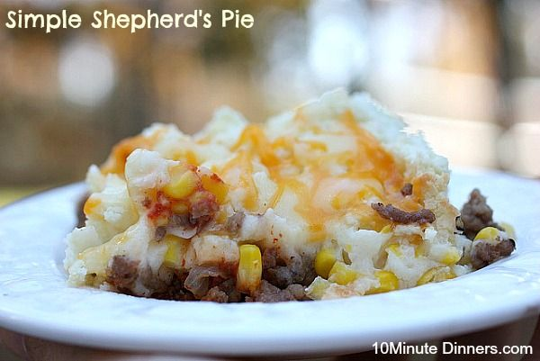 This simple Shepherd's Pie recipe screams the best in comfort food. Using your crockpot ground beef, this whips up in minutes.