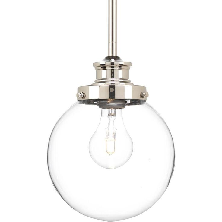 Penn is a modern take on vintage-inspired fixtures. The clear glass sphere in Penn makes a statement in either Natural Brass or Polished Nickel finishes. Its simplistic style and modern appeal will enhance a variety of room settings.