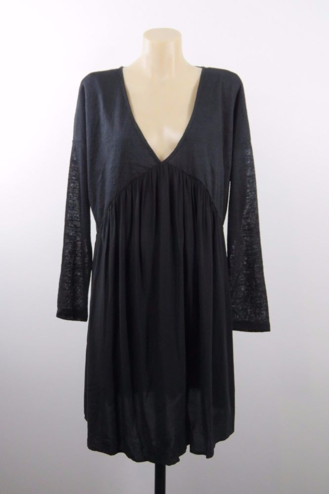 NWT Size XL 16 Ladies Black Top Tunic Casual Peasant Boho Chic Gypsy Goth Design #HotOptions #Tunic #Casual