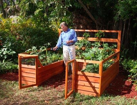 Elevated Cedar Complete Raised Garden Bed Kit   8u0027 X 8u0027 ...