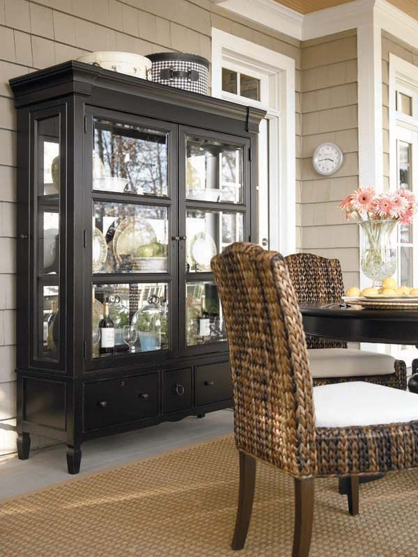 Midnight Black China Cabinet Hutch Design Interiors Pinterest Furniture And