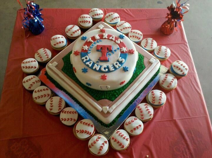 Texas Rangers Cake - end of season celebration