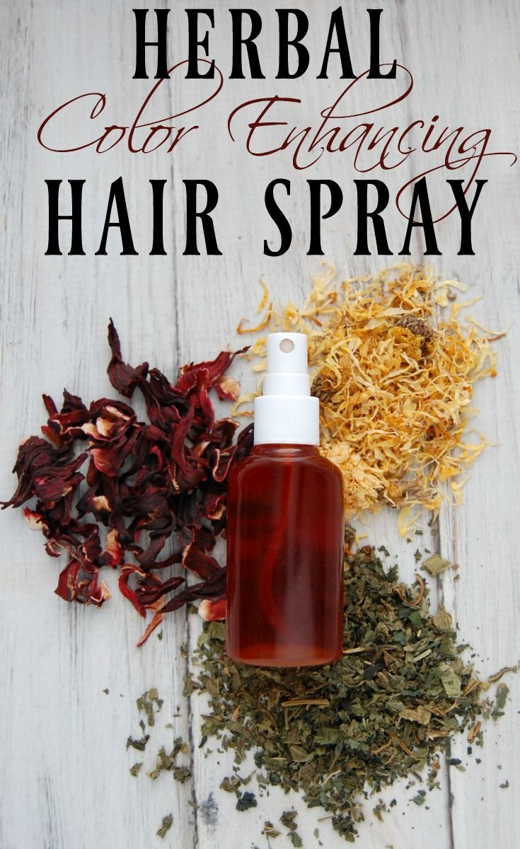 Herbal Color Enhancing Hair Spray - I use hair spray almost every day on my hair and with the help of herbs, I can give my hair a slow and subtle boost in color.