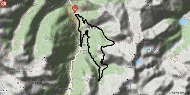[Pyrénées-Atlantiques] Refuge du Larry Magnifique balade en vallée d'Aspe avec pas mal de portage car on coupe pendant un petit moment le Saint Graal, la 8ème merveille du monde, le must du must, j'ai nommé : le fameux Parc National des Pyrénées !  Là, vous ne devrez pas fouler avec vos pneus les cailloux de la piste à 4x4 mais vous pourrez y marcher avec vos chaussures de VTT et le vélo sur votre dos bien sûr !! Soyez vigilant à ce que votre VTT ne touche pas le sol jusqu'à en être sorti…
