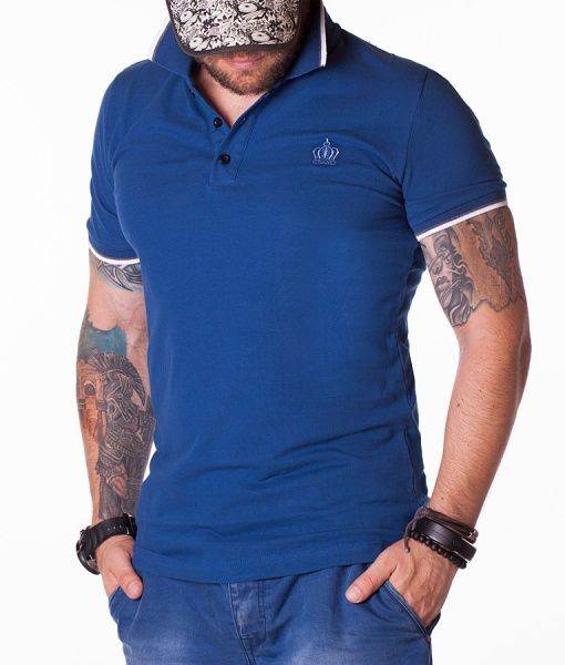Dolce & Gabbana Tricouri Polo - Crown tricou polo bleumarin