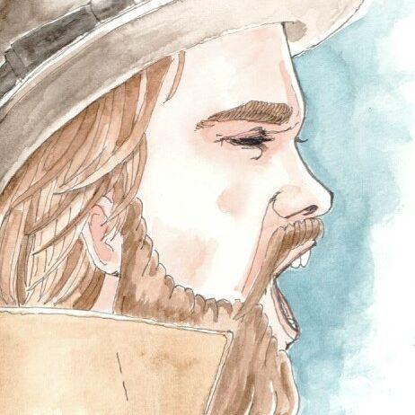 #avresdesign #watercolor #GayArt #Beard