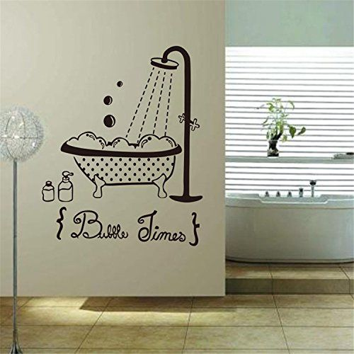 Yanqiao Bathroom Wall Stickers PVC Removable Home Decorations Wall Decals  Wallpaper 224x28 ** You Can