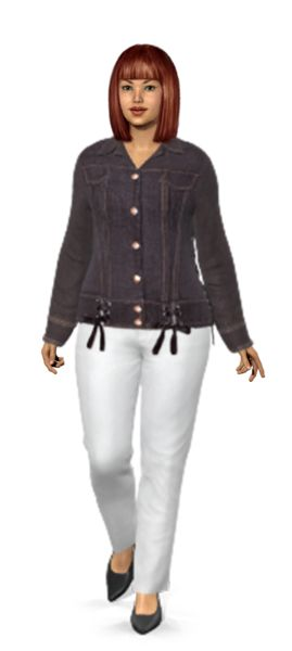 Amazing way to shop. I tried on these denim picks by Debbie on my virtual model, and I shopped for them on eBay.