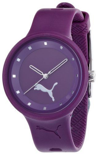PUMA Women's PU910682001 Slick Purple Watch PUMA. $60.00. Water-resistant to 165 feet (50 M). Flexible purple polyurethane strap. Purple dial. Case size diameter: 38 mm