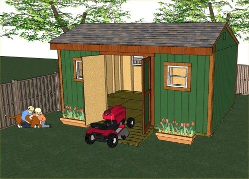 Shed Plans To Build A 16x12 Saltbox Style Garden Shed