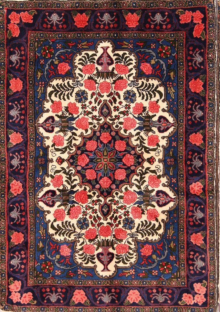 Breathtaking New Floral Ivory 3x5 Bidjar Persian Oriental Area Rug 4