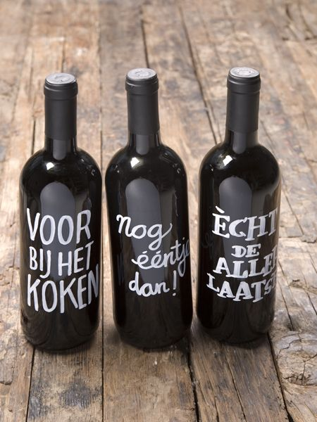 DIY wine bottles - Loods 5