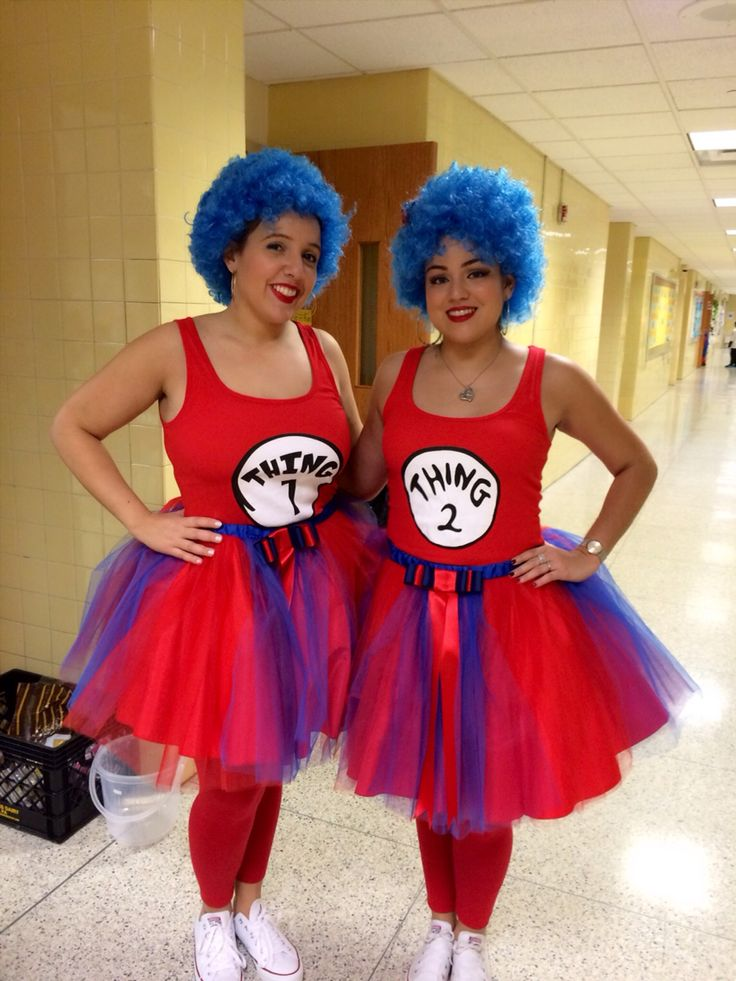 Thing 1 and thing 2 Halloween costume. 2 halloween
