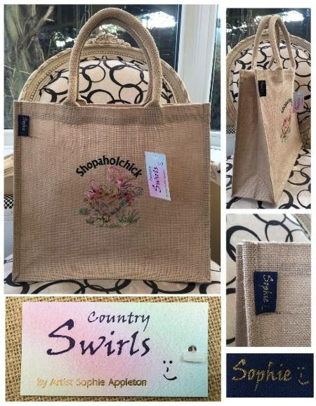 Shopping bag chicken shopaholchick Country Swirls by Sophie www.countryswirls.com