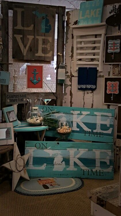 Our locally made Michigan Lake and Love pallet signs now back in stock !  Find us on Facebook Ann Marie's Gifts and Home Décor located in Beaverton MI https://www.facebook.com/AnnMarieHeathCustomFlorals/