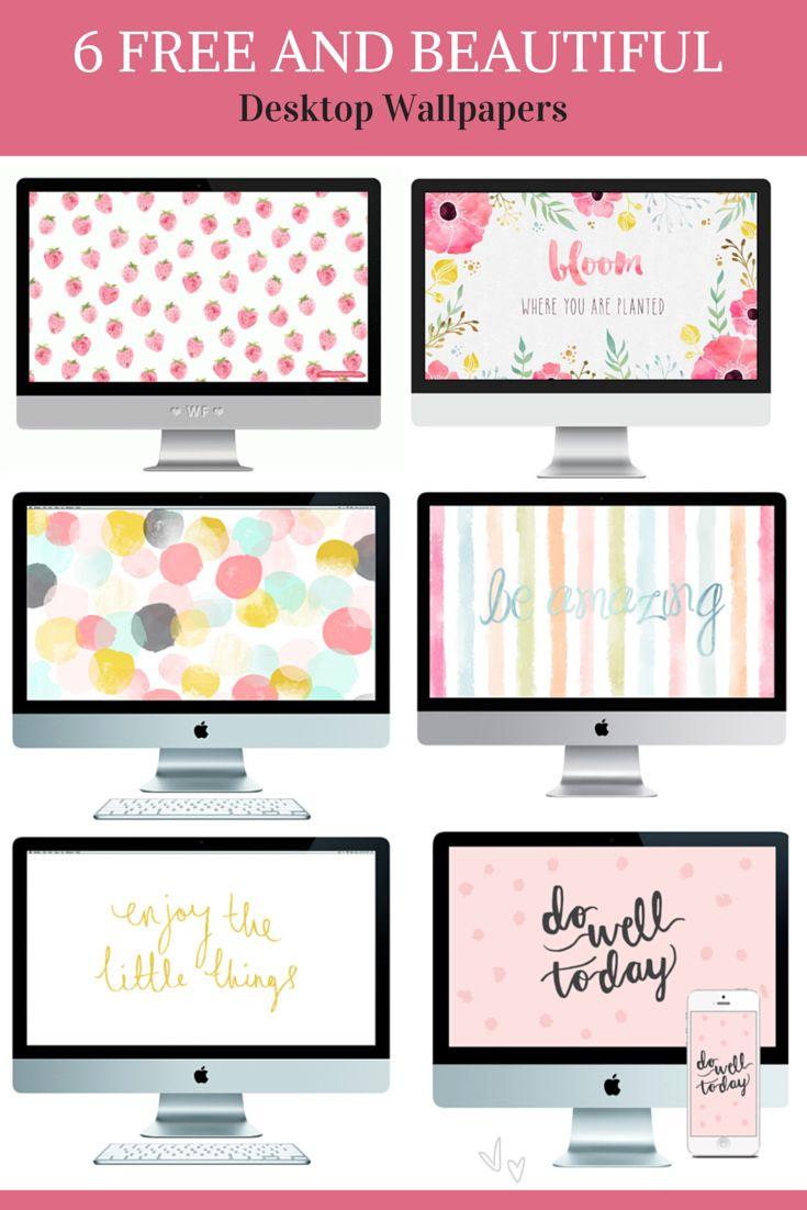6 FREE & BEAUTIFUL Desktop Wallpapers by Pastels & Macarons.
