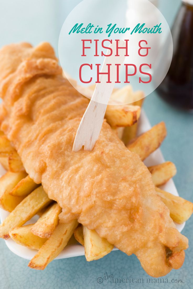 The Secret of Melt-in-your-Mouth Fried Fish & Chips _ The best comfort food! I used Tilapia – & it tasted like a restaurant quality dish. I've paid $18+ for seafood baskets that didn't compare to this!