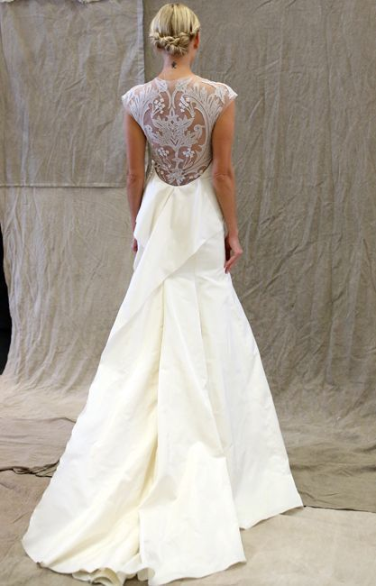 2014 Wedding Trends   Dramatic Backs   Lace-Back Wedding Gown