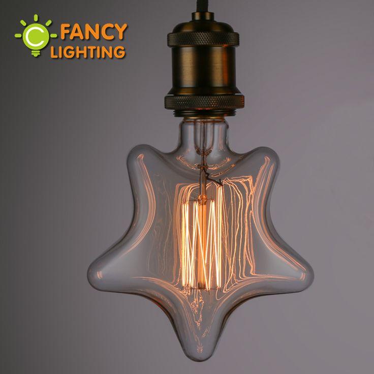 Vintage décoratif lumière ampoule e27 étoiles à incandescence ampoule rétro edison flamme ampoule 110 v 220 v lumière de noël à l'intérieur pour décor à la maison dans Ampoules à incandescence de Lumières et Éclairage sur AliExpress.com   Alibaba Group