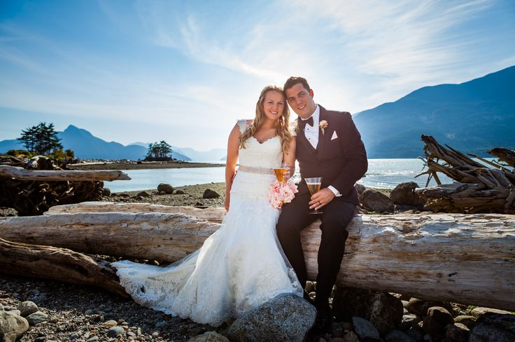 Sea to sky highway. Squamish wedding. Summer wedding. Bride and Groom.