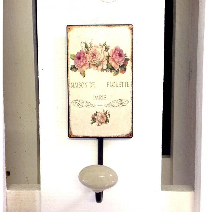Piękne wieszaczki ścienne z motywem róż, delikatne i eleganckie. Cudnie prezentujące się na przykład w łazience.
