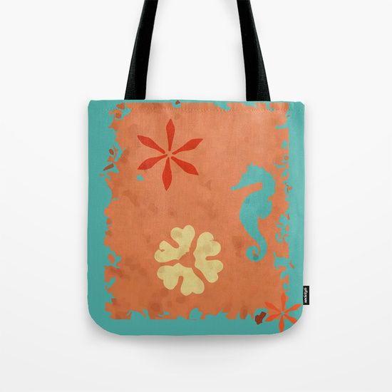 coral sea seahorse Tote Bag