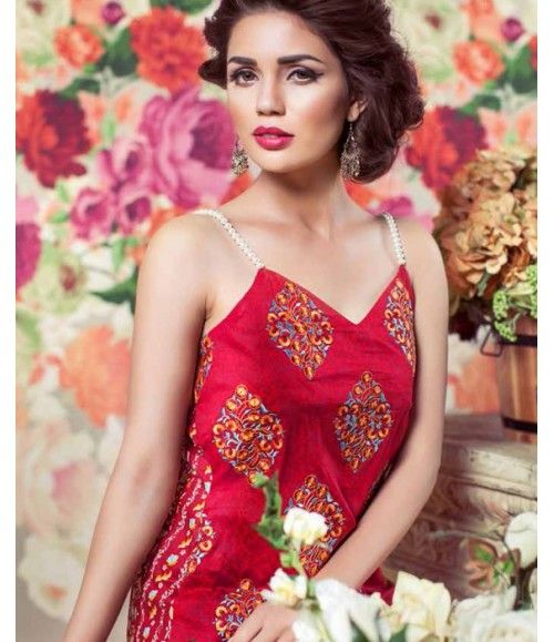 Feminine Embroidered Lawn Collection 2016 FEM_08A