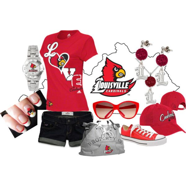 -how to recognize Saturday's opposition- Louisville Cardinals, created by amanda-fantini on Polyvore