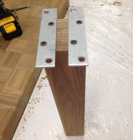While The Glue Was Drying We Cut Our Table Legs To Size And Added A